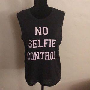 "Fifth Sun Tops - Women's Tank Top ""No Selfie Control"", L"